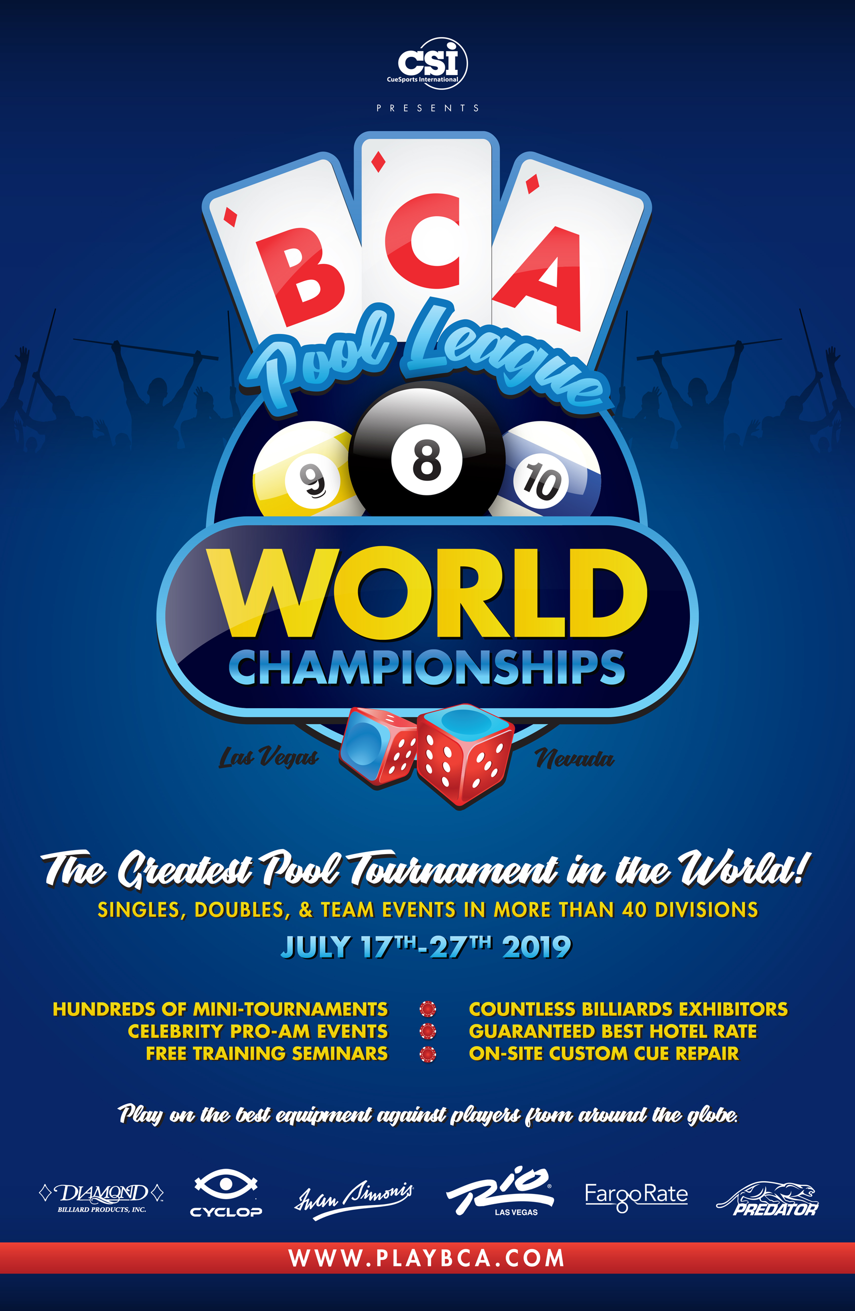 2019 BCAPL World Championships - CueSports International (CSI)